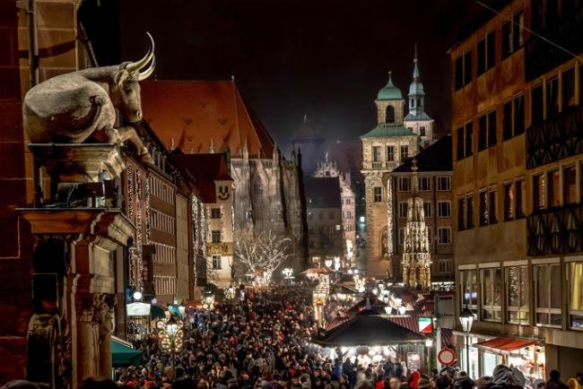Nürnberger Christkindlesmarkt, Нюрнберг, Германия