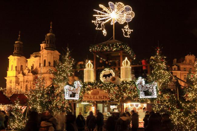 Vánoční trhy na Staroměstském náměstí, Прага, Чехия