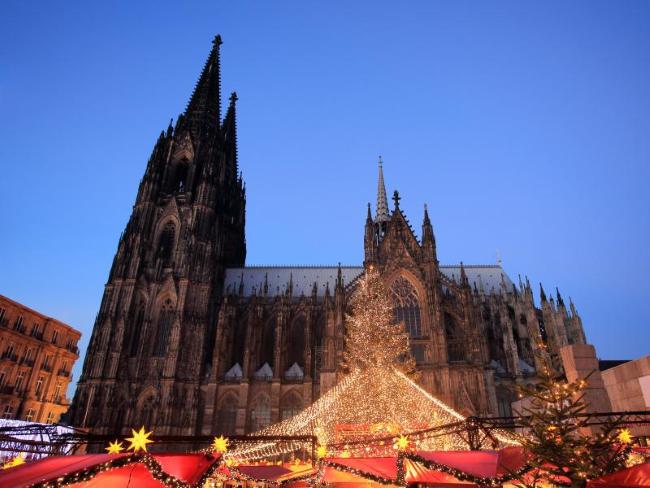 Weihnachtsmarkt am Kölner Dom, Кёльн, Германия