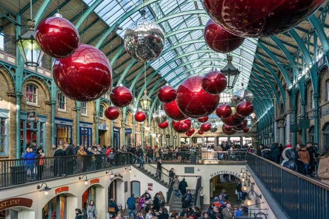 Christmas on Covent Garden, Лондон, Великобритания