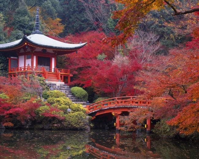 Волшебный монастырь в Киото, Япония