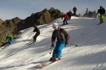 Горнолыжный сезон в Альпах наконец открылся. Без снега