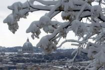 Античные памятники Рима закрыты для туристов из-за снегопада