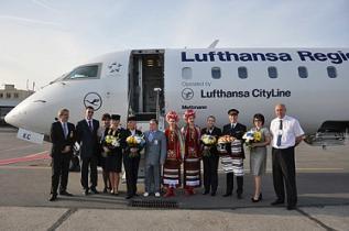 Lufthansa выполнила первый рейс Мюнхен-Одесса
