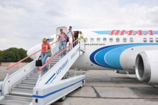 """Российская авиакомпания """"Ямал"""" выполнила первый рейс в Международный аэропорт """"Одесса"""""""