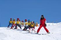 На австрийских курортах бесплатно обучат детей катанию на горных лыжах